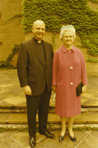 Father Jack and his mother, Agnes, after his first Mass of Thanksgiving on June 6, 1970.
