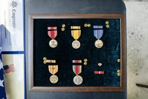 The medals awarded to Fr. Ed Flaherty