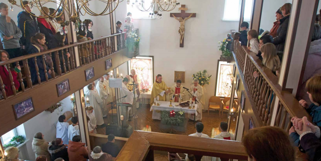 With a small Catholic population, many churches in Kyrgyzstan are intimate spaces.