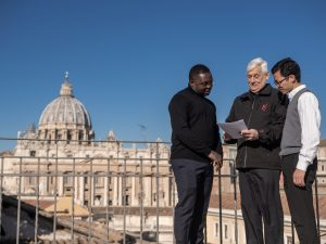 Father General Arturo Sosa among with Jesuit colleagues in Rome